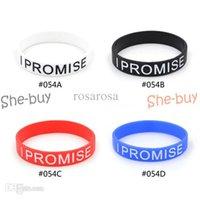 Wholesale I PROMISE Silicone Printed Logo Wristband Bracelet pc