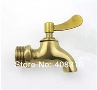 Wholesale Retro type copper small faucet single cold faucet quick opening four qualities in small brass faucet