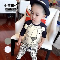 Girl baby clothes on sale - on sale Fashion Spring Autumn Baby Boys Long Sleeve Shirts with lion pattern Clothing Shirts kids boy cute shirt pc hot sale