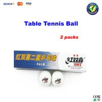 Wholesale packs DHS star Table tennis ball pingpong balls white pack