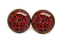alucard hellsing - 10pairs Hellsing earrings Alucard Pentagram Glass photo earrings