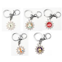 Wholesale Fashion Unique Alloy Rhinestone Keychain mm Silver Snowflake with Cabochon Inspired Pendant Key ring Holder Creative Gift