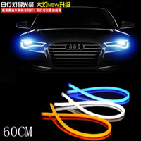 Wholesale car styling x White blue Red yellow green Flexible Tube Style Headlight Headlamp Strip Angel Eye DRL Decorative Light parking