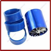 Cheap Hot Sale Blue F1-Z Double Supercharger Fuel Gas Saver Fan Universal Turbine Turb Air Intake
