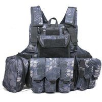 Wholesale MANDRAKE Rattlesnake Krypton D MOLLE CIRAS Force Recon Assault Camo CIRAS HEAVY DUTY Tactical Combat ARMOR Vest WIRE STEEL IN H