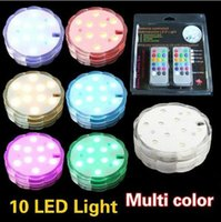 Wholesale Holiday Light remote controlled submersible led light Multicolor led Light for Wedding Party waterproof Candle Light Decoration Lamp