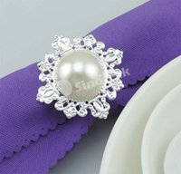 Cheap Clear Diamond Napkin Rings Serviette Wedding Holder Bridal Shower Favor For Party Home Table Decoration Acrylic 7 Colors Factory DHL