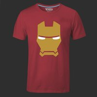 arrow sizes - Iron Man Men T Shirts The Avengers Printing Green Arrow Hulk Stark American Movie Cartoon Hero Swag Male Tee Shirt plus size