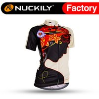 beauty jersey - Nuckily Beauty printing sports highly elastic active cycling jersey Women special design short sleeve bike wear NJ523