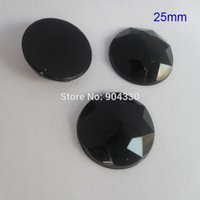 Wholesale Black MM Round Flatback Triangle Facets Rhinestone Acrylic Diamond Jewelry Garment Accessories DIY