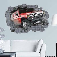 big car decals - Car Big Size cm D Stereo Breaking Wall creative funky wall sticker Home Decal Kids Room Vinyl Wall Decor