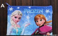 Wholesale Frozen Elsa Anna cartoon pocket Frozen purse FROZEN ELSA Anna pen bag of pencil case students pen boxes Forzen envelope A4 size