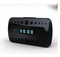 Wholesale Wireless WiFi IP Clock Camera P2P Camcorder H Hidden Camera Wide angle view deg Mini DV DVR freeshipping