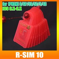 Wholesale R SIM special for iOS Unlock Card for the iPhone6 plus S C S softbank AU DOCOMO UK EE G networking R SIM10 DHL Free