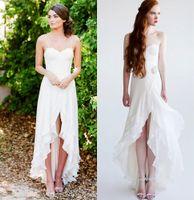 aria wedding - Bohemia Lace Aria Beach Wedding Dresses Spaghetti Crystals A line Chiffon Bridal Dresses Cheap Wedding Gowns