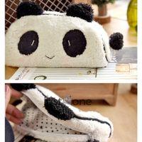 pen pouch - 10Pcs Lovely Cute Soft New Plush Cosmetic Notebook Makeup Bag Pouch Panda Pencil Pen Card Case