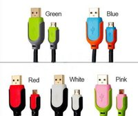 Wholesale Steel Mesh Micro USB Charger Cable M FT Long Braided pin Data Sync Charging Cable For Samsung Galaxy S3 S4 Note2 HTC