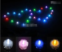 Wholesale 20 off Underwater Flickering Flicker Flameless LED Tealight Tea Waterproof Candles Light Battery Operated Wedding Birthday Party Xmas Decora