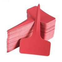 Wholesale x10cm Plastic Plant T type Tags Markers Nursery Tray Garden Labels Red Color