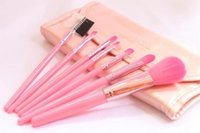eyebrow shadow - 7 cosmetic brush set tools lip eyebrow blush eye shadow eyelash brush set make up full set bag