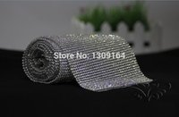 aluminium paste - mm rows1 meter Crystal Clear Stones Silver Plated A Hot Fix Rhinestone Mesh Trimming Aluminium base Pasted Sew on Net Drill