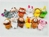 achat en gros de marionnettes à doigt de la main du zodiaque-Hot Finger Puppets jouets Puppets Baby Hand Puppet jouet bébé Finger doll Poupées de jouets Zodiac animaux