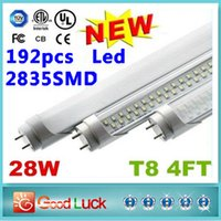 Wholesale 100PCS New Arrival W T8 m SMD Led Tube Light Fluorescent Lamp Leds lm ft Led Tube AC V W LED SMD CE UL