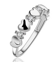 Wholesale hot silver sterling ring styles charms rings jewelry heart rings for ladies women lovers