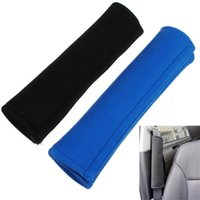 Wholesale 1 Pair New Car Safety Seat Belt Shoulder Pad Cotton Comfortable Cover Cushion Harness Protective Pad