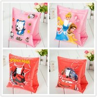 baby swimming aid - Spider man KT Frozen Cars PLEX Snow WhiteIn flatable Baby Swim Float Seat Ring Aid Swimming Pool Trainer LJJH374