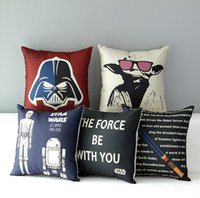 Wholesale Star Wars Pillow Covers Cartoon Minions Cushion Covers Linen Christmas Pillow Case Cushion Cover European Throw Pillow Cases