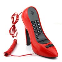 Wholesale NEW Style High Heel Shoe Shape Telephone Cordless Phone For Novelty Best Gifts