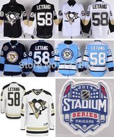 best lettings - Factory Outlet Best Quality Cheap Kris Letang Jersey Pittsburgh Penguins Black White Stadium Series Ice Hockey Jersey Stitched Let