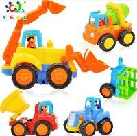 dump truck - music toy engineering car inertia car excavator mixer truck dump truck