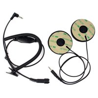 Cheap Sports Motorcycle Helmet Headset Earphone Stereo With Extension Cord 3.5mm Audio Plug For Mobile Phone C2178A