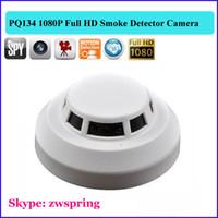 Wholesale Smoke Detector Video Recorder - HD 1920*1080P Smoke detector spy Camera Remote Control Hidden camera Video Recorder Camcorder Mini DV DVR camera PQ134