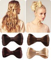 Women's big hair bow ties - New Fashion Big Bow Ties Wig Hairpin Hair Bow Clips Women Girls Hair accessories