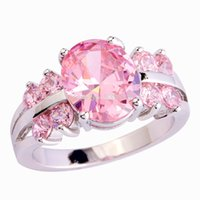 beautiful release - New Releases Cabinet Beautiful Feminine Jewelry Princess Cut Pink Sapphire Silver Ring Size