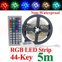 Wholesale led strip non waterproof M Leds SMD3528 RGB Led Flexiable Strips Light keys Remote controller V A power supply EU US Plug