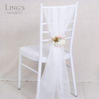 Cheap 2016 Romantic Organza Wedding Party Anniversary Chair Sash Party Banquet Decorations 50 Pieces  Set Wedding Chair Sashes