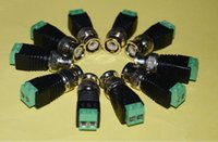 Wholesale new Arrival Coax CAT5 To Camera CCTV Video AV Balun BNC plug Video Balun Connector Adapter DHL