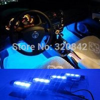 Wholesale Fashion car styling x LED Blue light Car Auto Charge interior light in1 V Glow Decorative Atmosphere Lights Lamp