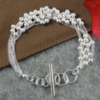 beaded braceletes - Fashion Silver Plated Jewelry Round Ball Braceletes Pulseiras Femininas For Women Wrap Bracelets SZ3092