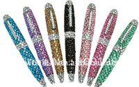 aluminium ball pen - the best choice for Christmas gift Hot sales colorful diamond aluminium ball pen