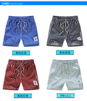 Wholesale men trunks striped Top quality New Summer mens swimming shorts Beach shorts Fashion Mens swimwear Summer Quick dry mens Beach shorts pants
