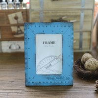 Cheap 6 inch Vintage Photo Frame Home Decor Decoration Bedroom Desk Ornament Wood Wooden Wedding Casamento Gift Pictures Photo Frames