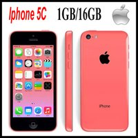 Wholesale Original refurbished iphone c iOS inch GB RAM GB ROM Dual core GHz MP have iphone s Free DHL