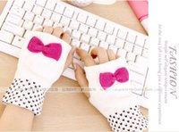 Wholesale 2015 Winter South Korea lovely knitted gloves Typing fingerless gloves