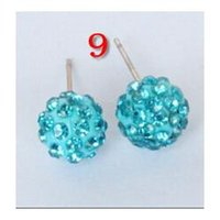 Wholesale 10mm ball full of diamond manufacturers diamond shamballa Shamballa earrings ear acupuncture ear jewelry Korea