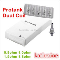 Cheap E Cigarette Protank Dual Wicks Coils 0.5ohm 0.8ohm 1.0ohm etc for Protank 3 Mini Protank 3 Pro tank Dual Coils Various Resistance Instock